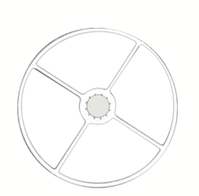 Bar Bumper Wheel Medium White