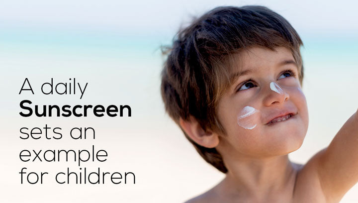 A Daily Sunscreen Sets An Example For Children