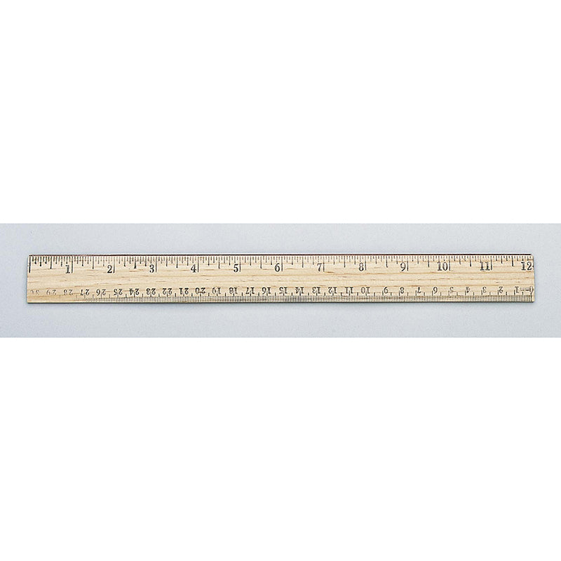 SCHOOL RULER WOOD 12 IN SINGLE