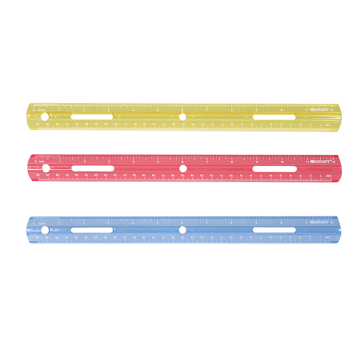 PLASTIC RULER 12IN