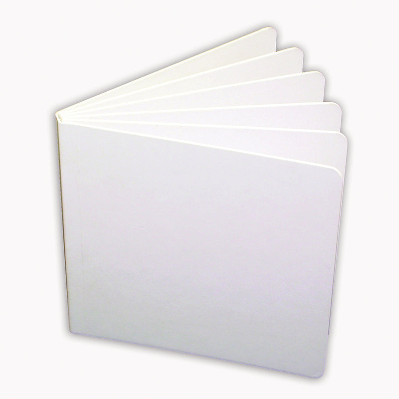 WHITE HARDCOVER BLANK BOOK 11X8-1/2