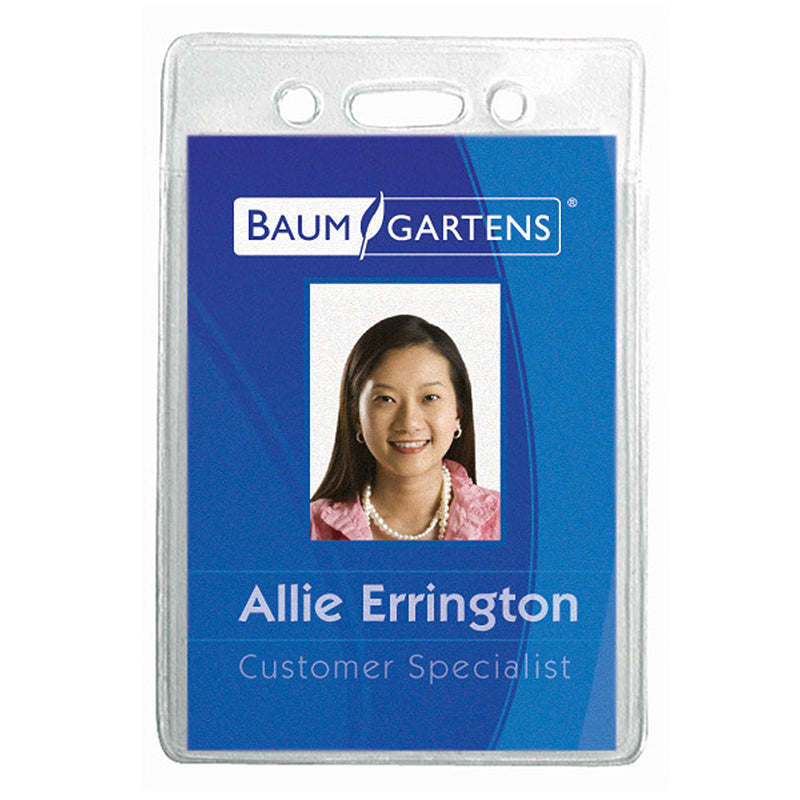 NAME BADGE HOLDER VERTICAL 12PK