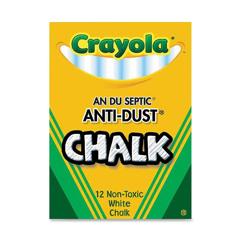 CHALK ANTI-DUST WHITE 12 CT