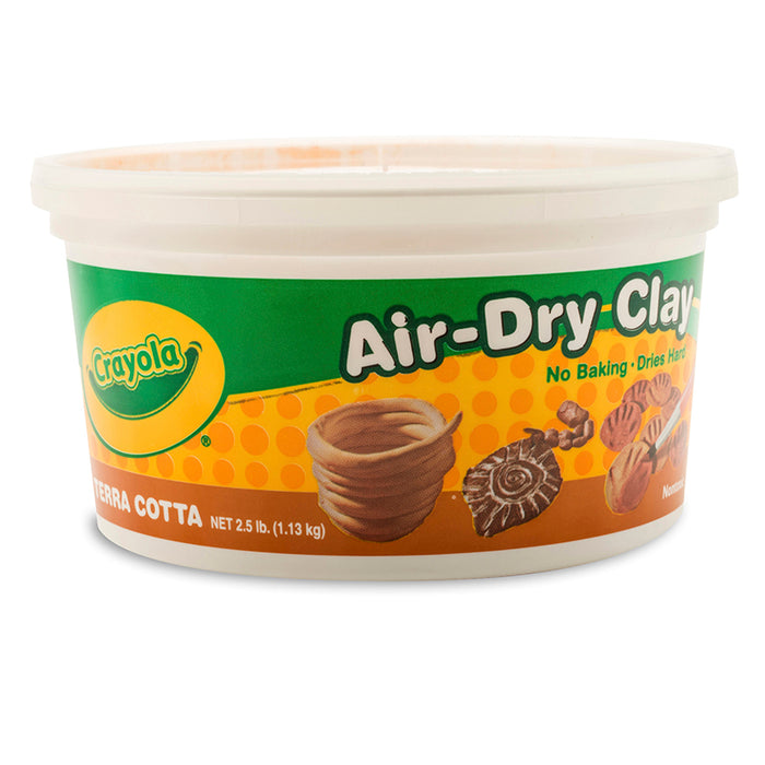 CRAYOLA AIR DRY CLAY 2 1/2LB TERRA
