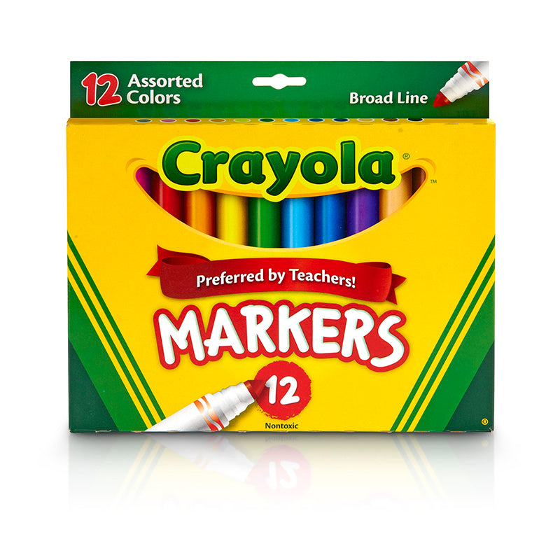 CRAYOLA MARKERS 12CT ASST COLORS