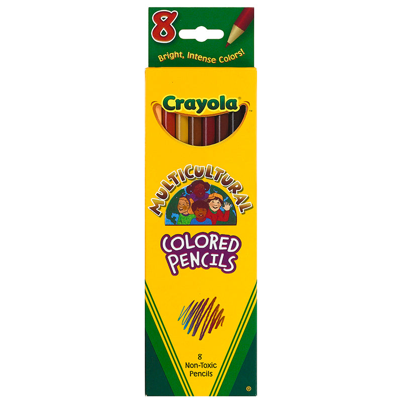 CRAYOLA MULTICULTURAL 8 CT COLORED