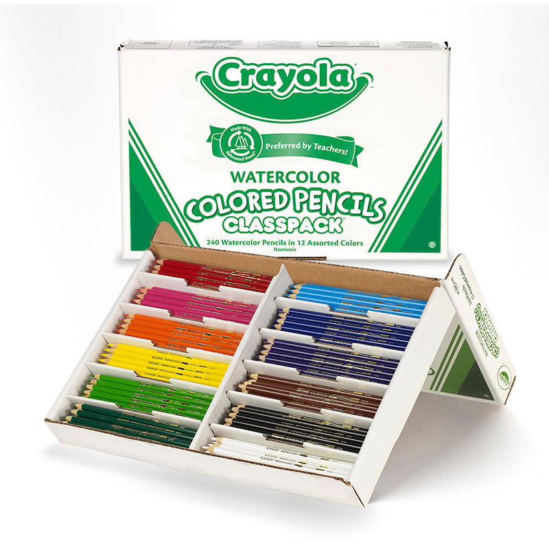 CRAYOLA WATERCOLOR PENCIL 240 CT