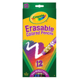 ERASABLE COLORED PENCILS 12 CT