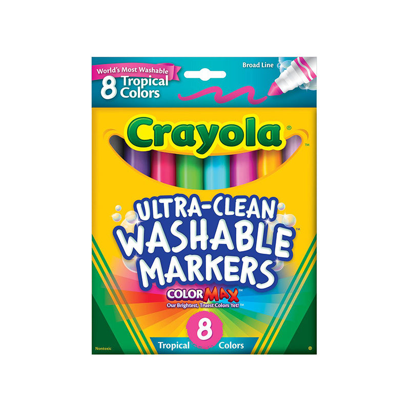 WASHABLE MARKERS 8 PK TROPICAL