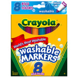 WASHABLE MARKERS 8 PK BOLD COLORS