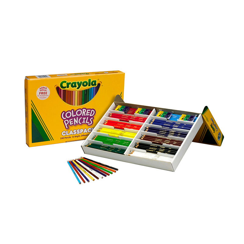 COLORED PENCILS 240 CT CLASSPACK 12