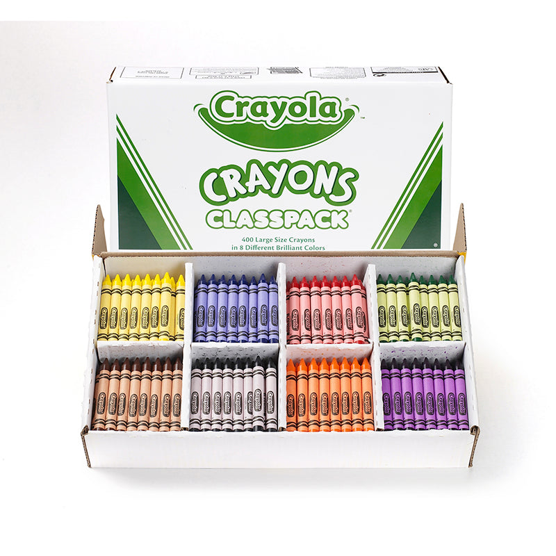 400 LARGE SIZE CRAYON CLASSPACK