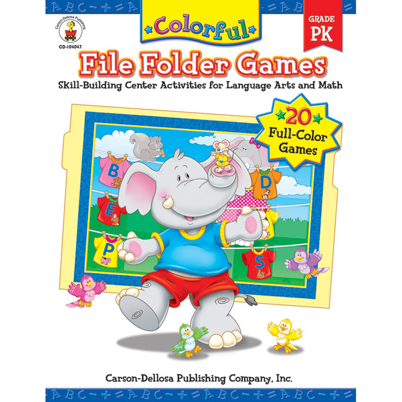 COLORFUL FILE FOLDER GAMES GR-PK