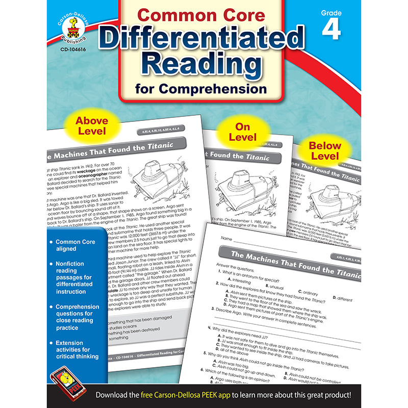 BOOK 4 DIFFERENTIATED READING FOR