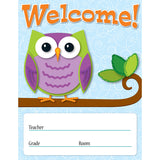 COLORFUL OWLS WELCOME CHART
