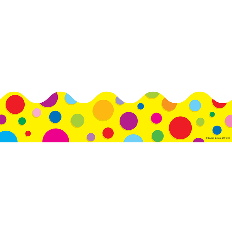 BORDER COLORFUL DOTS SCALLOPED