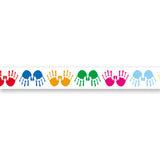 BORDER COLORFUL HANDPRINTS STRAIGHT
