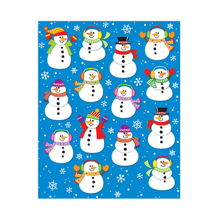 SNOWMEN SHAPE STICKERS 84PK