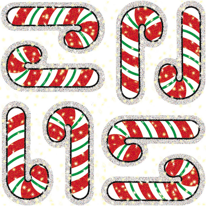 DAZZLE STICKERS CANDY CANES 75-PK