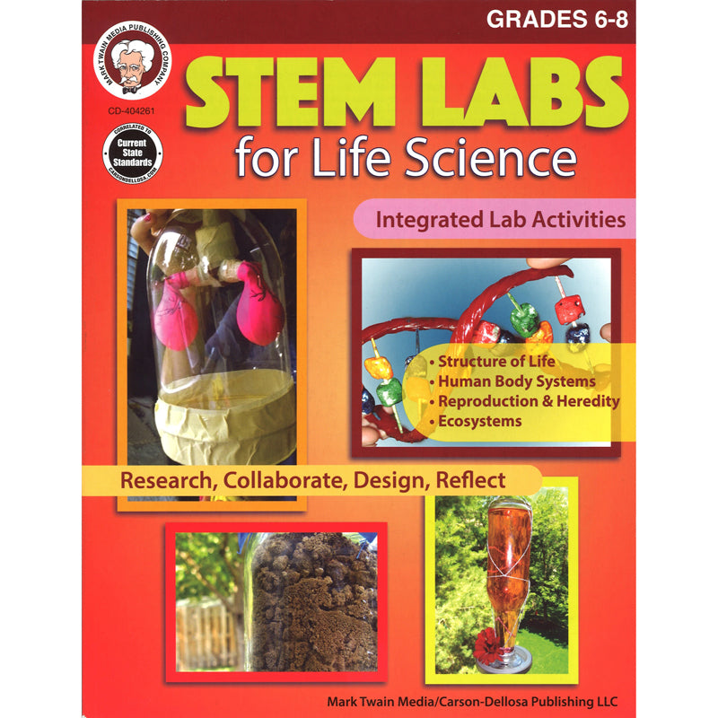 (3 EA) STEM LABS LIFE SCIENCE BOOK