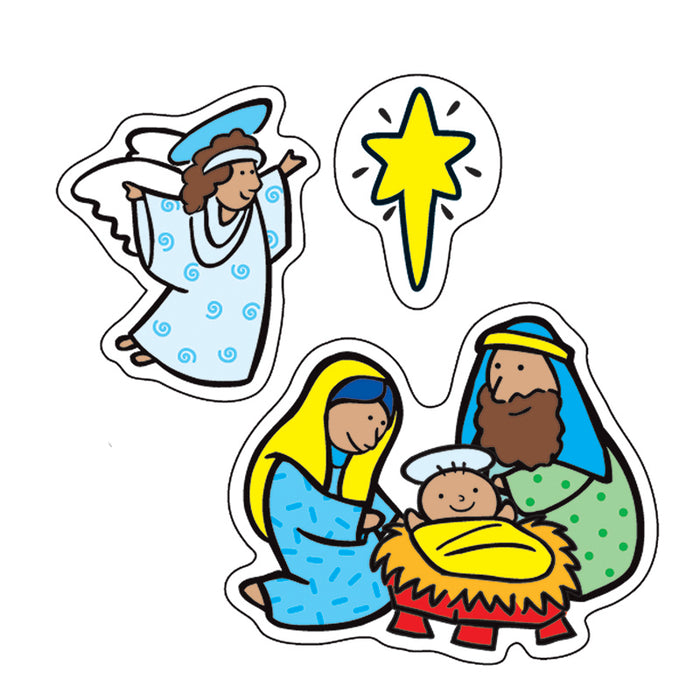 THE NATIVITY STICKERS 186 PER PK
