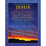 CHARTLET NAMES OF JESUS 17X22