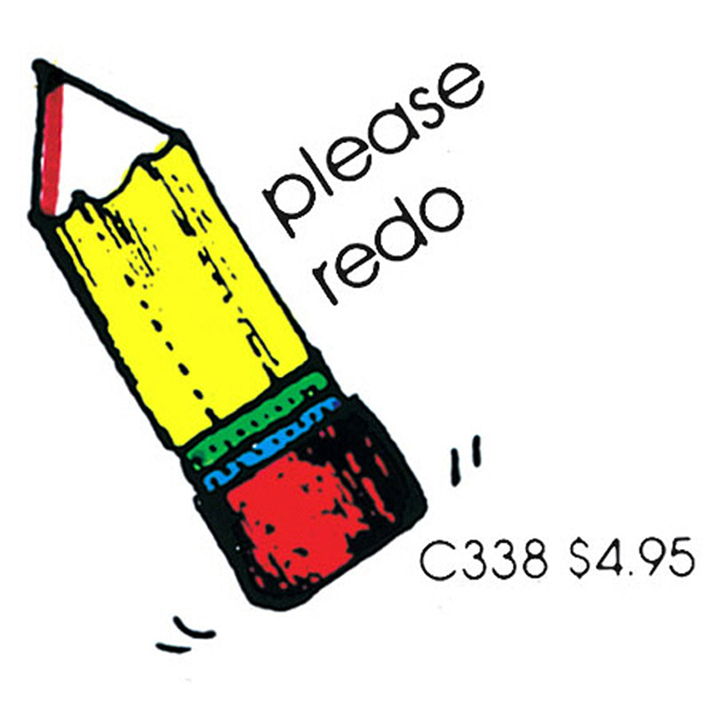 STAMP PLEASE REDO PENCIL