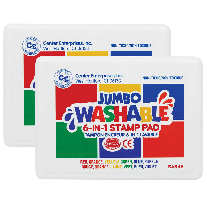(2 PK) STAMP PAD 6 PADS IN ONE /