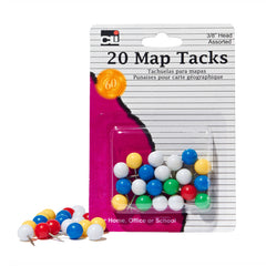 (12 PK) MAP TACKS 20 PER PK