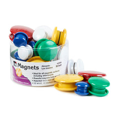 (6 EA) MAGNETS ROUND 30/TUB ASST