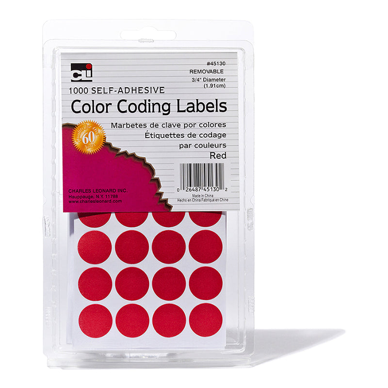 COLOR CODING LABELS RED