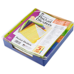 (12 EA) 5 TAB INDEX DIVIDERS WITH