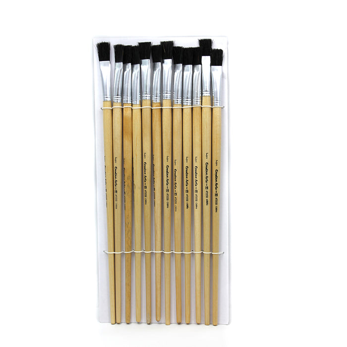 BRUSHES EASEL FLAT 1/2IN BRISTLE
