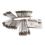 SAFETY PINS ASSORTED SIZES 50PK