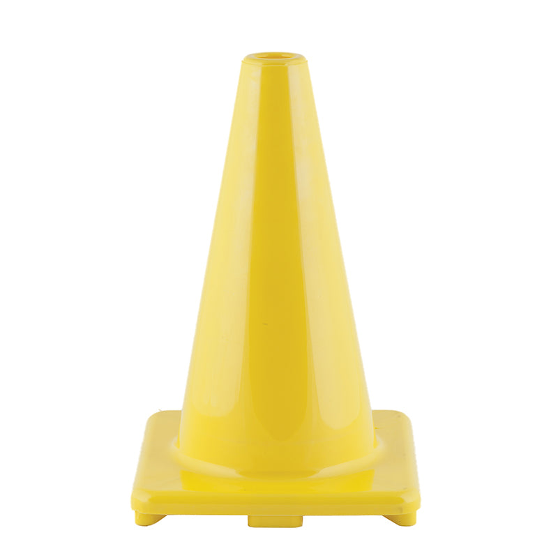 FLEXIBLE VINYL CONE 12IN YELLOW