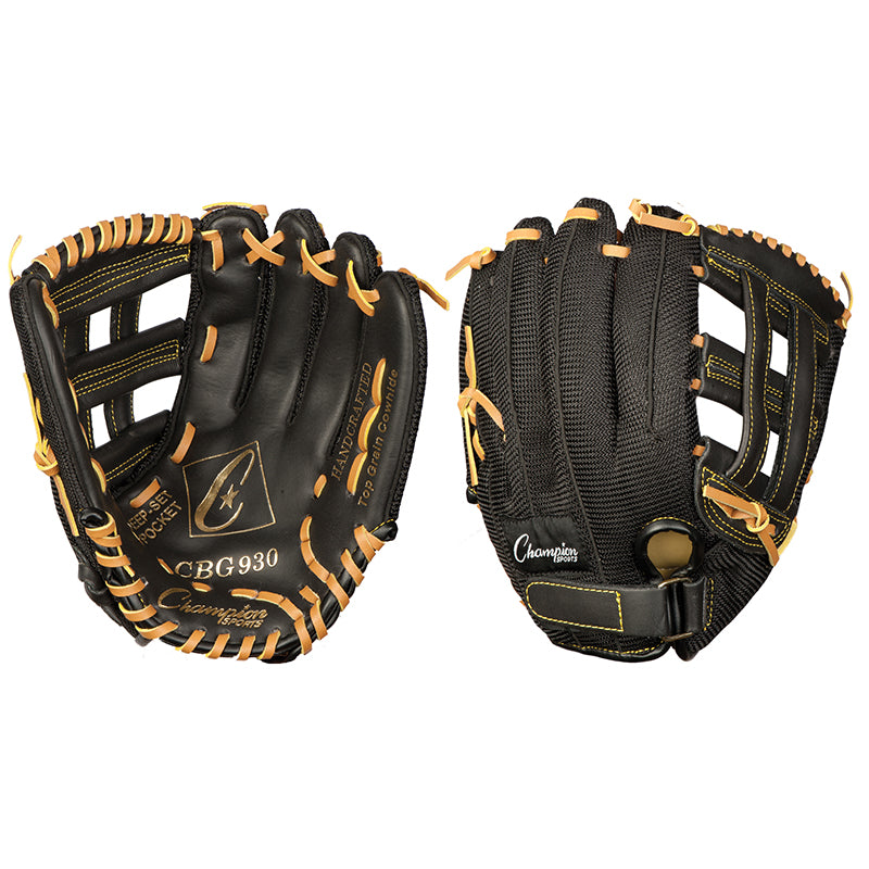 10IN PE GLOVE YOUTH BLACK