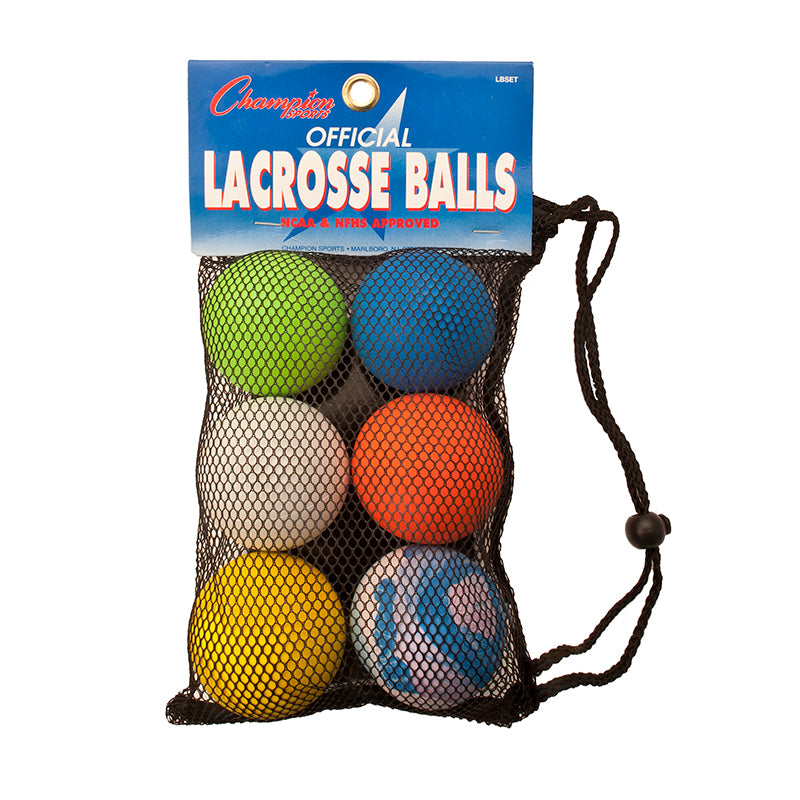 LACROSSE BALL SET OF 6 OFFICIAL SZ