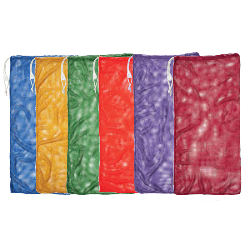 6 SET ASST COLOR MESH EQUIPMENT BAG