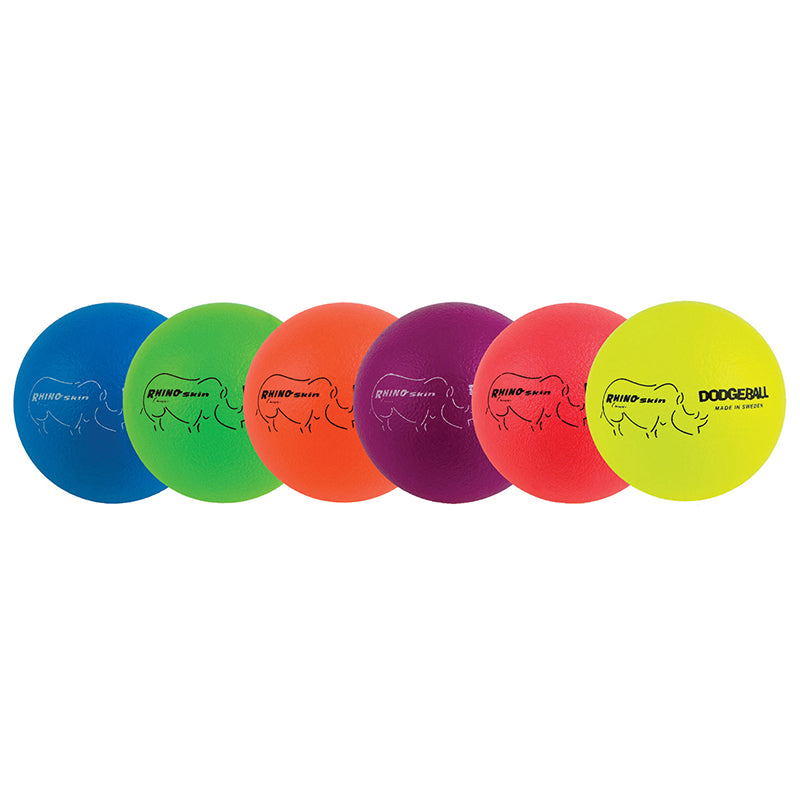 DODGEBALL SET/6 RHINO SKIN RAINBOW