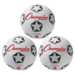 (3 EA) CHAMPION SOCCER BALL NO 4