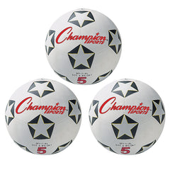 (3 EA) CHAMPION SOCCER BALL NO 5