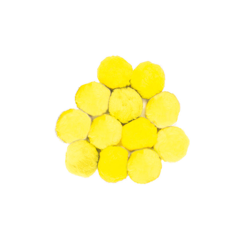 COLOSSAL FLUFF BALLS 90 MM YELLOW