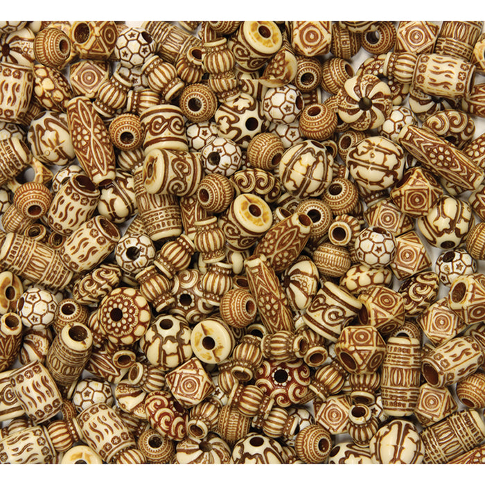 MIXED BONE BEADS