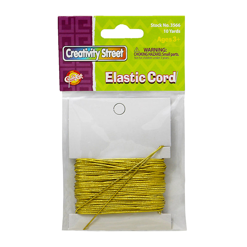(6 PK) GOLD ELASTIC CORD 10 YDS
