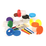 PAINT CUPS & BRUSHES SET 10 CUPS W/