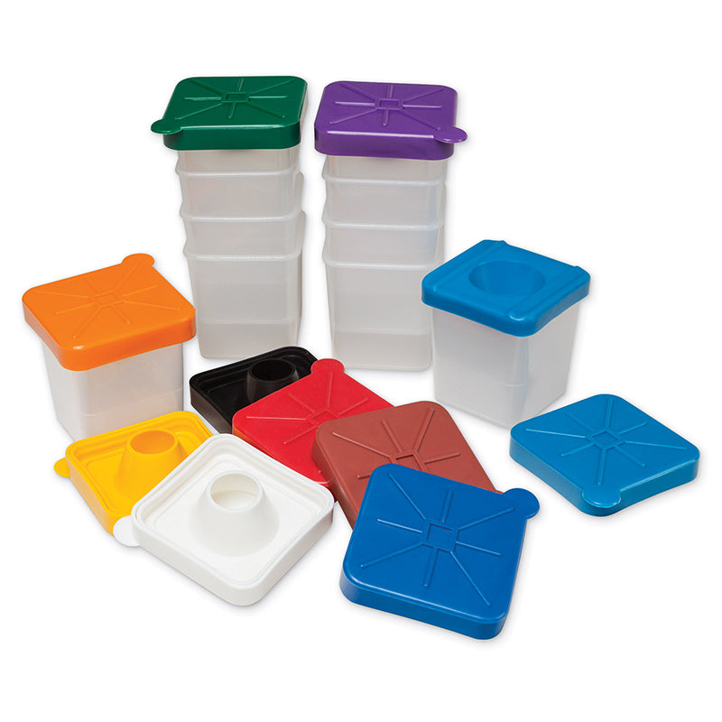 NO-SPILL PAINT CUPS SQUARE