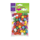GLITTER POM PONS BAG OF 80 1/2IN