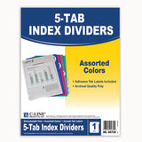 5 TAB POLY INDEX DIVIDERS ASSORTED