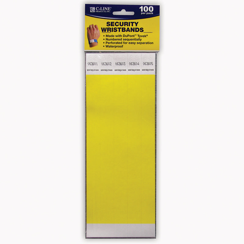 C LINE DUPONT TYVEK YELLOW SECURITY