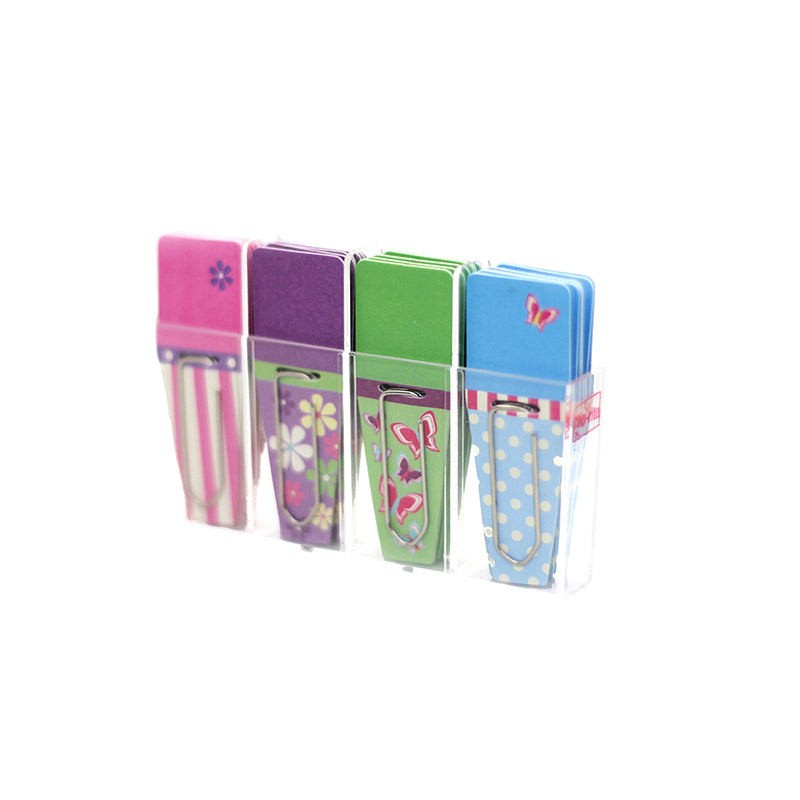 SPRING CLIP FLAGS PINK PURPLE GREEN